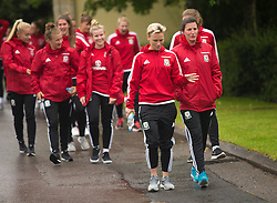 CARDIFF, WALES - Friday, August 19, 2016: Wales' Jessica Fishlock during a pre-match walk at the Vale Resort ahead of the international friendly match against Republic of Ireland. (Pic by Laura Malkin/Propaganda)