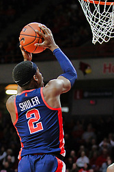 NORMAL, IL - December 08: Devontae Shuler during a college basketball game between the ISU Redbirds and the University of Mississippi (Ole Miss) Rebels on December 08 2018 at Redbird Arena in Normal, IL. (Photo by Alan Look)