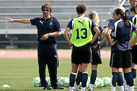19 March 2009: Head Coach Abner Rogers of the Los Angeles SOL Women's Soccer Team  during a mid-day pre-season practice at the Track and Field stadium at Home Depot Sports Complex in Carson, California.
