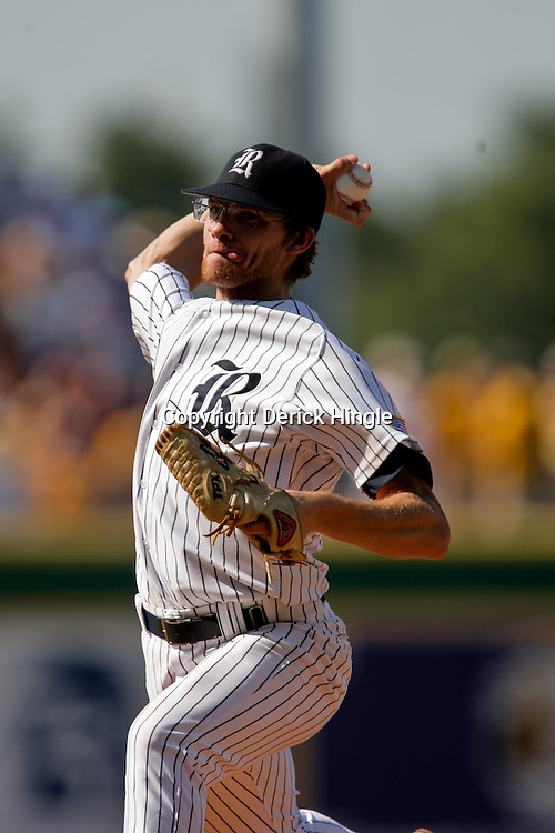 06 June 2009:  Rice pitcher Ryan Berry throws during game two of the NCAA baseball Super Regional between the Rice Owls and the LSU Tigers at Alex Box Stadium in Baton Rouge, Louisiana.