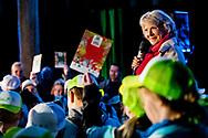 14-3-2018 HEILIGERLEE - Princess Irene plants a tree during the 62nd edition of the Tree Day the 62nd edition of the Boomfeestdag.Copyright Robin Utrecht<br /> BLAUWESTAD - Prinses Irene plant samen met Albert Verlinde een boom tijdens de 62-ste editie van de Boomfeestdag.  de 62-ste editie van de Boomfeestdag.