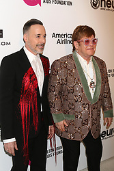February 24, 2019 - West Hollywood, CA, USA - LOS ANGELES - FEB 24:  David Furnish, Elton John at the Elton John Oscar Viewing Party on the West Hollywood Park on February 24, 2019 in West Hollywood, CA (Credit Image: © Kay Blake/ZUMA Wire)