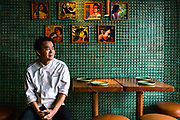 A portrait of Peter Cuong Franklin, executive chef and owner of An An.