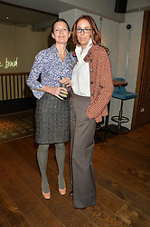 Left to right, JEMIMA HUNT and VANESSA ARELLE at a ladies lunch hosted by Thomasina Miers was held at her restaurant Wahaca, 19-23 Charlotte Street, London W1 on 10th January 2014.