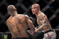 September 16, 2017 - Pittsburgh, Pennsylvania, USA - September 16, 2017: Anthony Smith defeats Hector Lombard by TKO during UFC Fight Night at PPG Paints Arena in Pittsburgh, Pennsylvania. (Credit Image: © Scott Taetsch via ZUMA Wire)