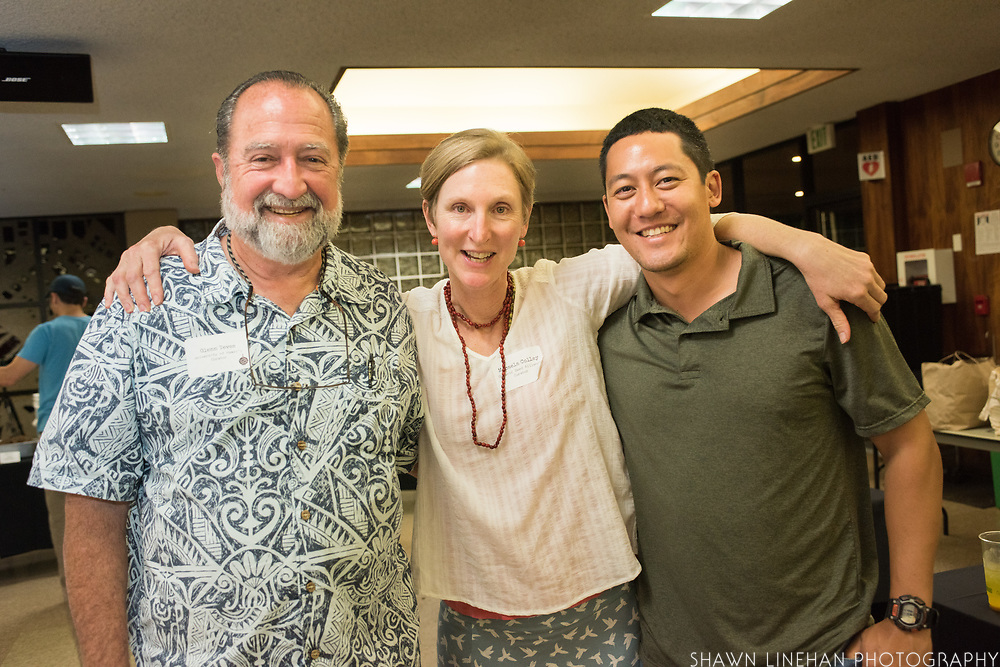 Glenn Teves, Micaela Colley and Joshua Silva