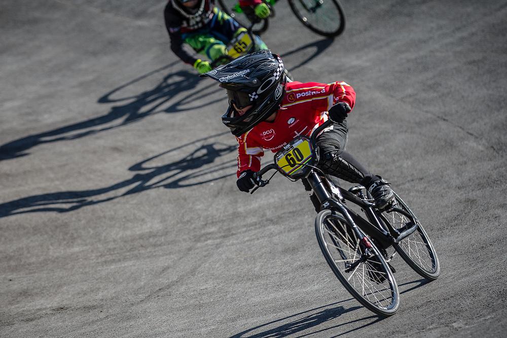 8 Boys #60 (LUCA Taj) DEN at the 2018 UCI BMX World Championships in Baku, Azerbaijan.