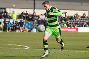 Forest Green Rovers Dayle Grubb(8) on the ball during the EFL Sky Bet League 2 match between Barnet and Forest Green Rovers at The Hive Stadium, London, England on 7 April 2018. Picture by Shane Healey.