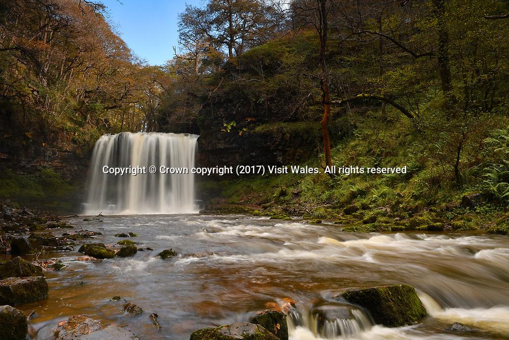 Sgwd yr Eira <br /> Brecon<br /> South Wales<br /> <br /> Wales News Service