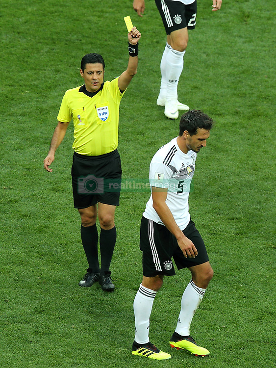 June 17, 2018 - Moscow, Russia - June 17, 2018, Russia, Moscow, FIFA World Cup, First round, Group F, Germany vs Mexico at the Luzhniki stadium. Player of the national team Mats Hummels (Credit Image: © Russian Look via ZUMA Wire)