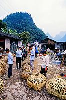 Market day in Xingping Village (on the Li River) near Yangshuo, southern China