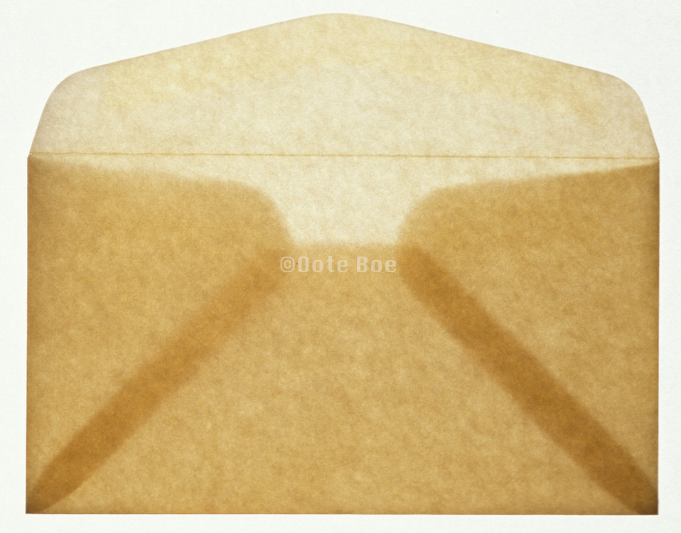 Open envelope with light coming through