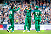 Picture by Allan McKenzie/SWpix.com - 19/05/2019 - Sport - Cricket - 5th Royal London One Day International - England v Pakistan - Emerald Headingley Cricket Ground, Leeds, England - Pakistan's Shaheen Afridi celebrates dismissing England's James VInce.