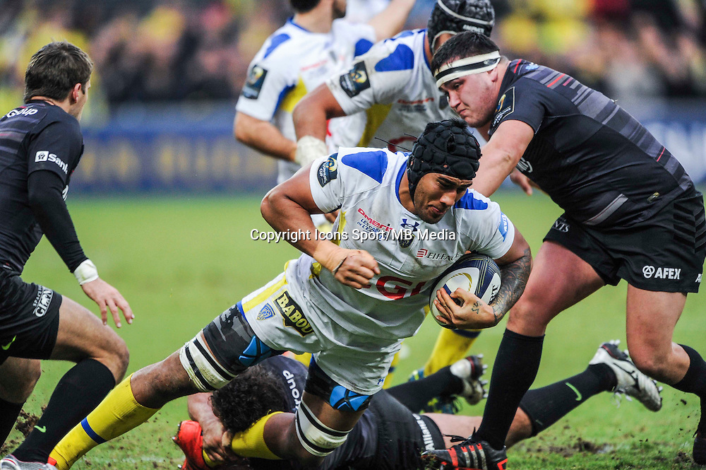 Sebastien VAHAAMAHINA - 25.01.2015 -  Clermont / Saracens - European Champions Cup <br />