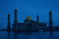 New Mosque under construction in Ternate, Indonesia