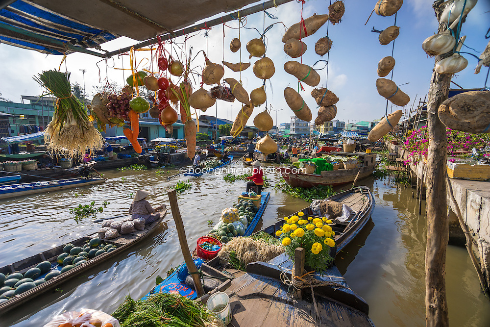 Vietnam Images-Floating market-Chợ nổi