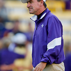 Oct 26, 2013; Baton Rouge, LA, USA; Furman Paladins head coach Bruce Fowler prior to a game against the LSU Tigers at Tiger Stadium. Mandatory Credit: Derick E. Hingle-USA TODAY Sports