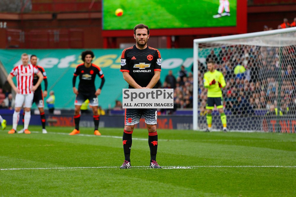 Juan Mata during Stoke City v Manchester United, Barclays Premier League, Saturday 26th December 2015, Britannia Stadium, Stoke