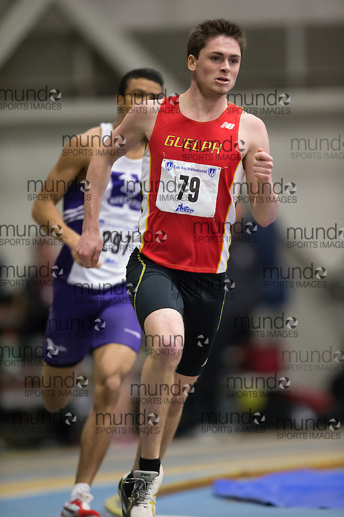 Chris Hutton of the University of Guelph  competes at the 2014 CanAm Track and Field meet in Windsor Ontario, Saturday,  January 11, 2014.<br /> Mundo Sport Images/ Geoff Robins