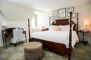 A King bedroom at the Carolina Inn.