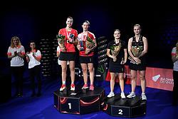 DK:<br /> 20190209, &Aring;rhus, Danmark:<br /> Badminton Danmark FZ Forza/RSL DM 2019. <br /> Dame Double: Guldvindere Claudia Paredes og Julie Finne Ipsen. (Tv)<br /> S&oslash;lvvindere Alexandra B&oslash;je og Sara Lundgaard (th)<br /> Foto: Lars M&oslash;ller<br /> UK: <br /> 20190209, Aarhus, Denmark:<br /> Badminton Danmark FZ Forza/RSL DM 2019.<br /> Dame Double: Guldvindere Claudia Paredes og Julie Finne Ipsen. (Tv)<br /> S&oslash;lvvindere Alexandra B&oslash;je og Sara Lundgaard (th)<br /> Photo: Lars Moeller