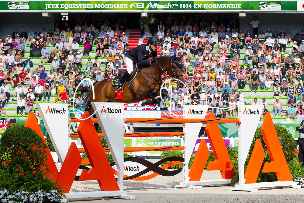 Alexander Zetterman, (SWE), Cafino - World Champions, - Second Round Team Competition - Alltech FEI World Equestrian Games&trade; 2014 - Normandy, France.<br /> &copy; Hippo Foto Team - Leanjo De Koster<br /> 25/06/14