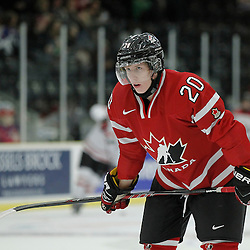 COBOURG, - Dec 16, 2015 -  Game #9 - Canada East vs Canada West at the 2015 World Junior A Challenge at the Cobourg Community Centre, ON. Troy Van Tetering #20 of Team Canada West during the pre-game warmup<br /> (Photo: Amy Deroche / OJHL Images)
