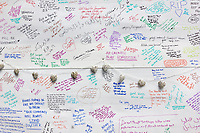 15 June 2017 taken between the hours of 12.12 - 14.41<br /> <br /> The Grenfell Tower fire occurred on 14 June 2017 at the 24-storey, 220-foot-high (67 m), Grenfell Tower block of public housing flats in North Kensington, Royal Borough of Kensington and Chelsea, West London. It caused at least 80 deaths and over 70 injuries. A definitive death toll is not expected until at least 2018. As of 5 July 2017, 21 victims had been formally identified by the Metropolitan Police. Authorities were unable to trace any surviving occupants of 23 of the flats.<br /> <br /> Emergency services received the first report of the fire at 00:54 local time. It burned for about 60 hours until finally extinguished. More than 200 firefighters and 45 fire engines from stations all over London were involved in efforts to control the fire. Many firefighters continued to fight pockets of fire on the higher floors after most of the rest of the building had been gutted. Residents of surrounding buildings were evacuated due to concerns that the tower could collapse, but the building was later determined to be structurally sound.<br /> <br /> The tower contained 129 flats. Police were unable to trace any survivors from 23 of these, and their occupants are believed to have died in the fire. Firefighters rescued 65 people. Seventy-four people were confirmed to be in six hospitals across London, and 17 of them were in a critical condition. The fire started in a fridge-freezer on the fourth floor. The growth of the fire is believed to have been accelerated by the building's exterior cladding.  ( Source Wikipedia}