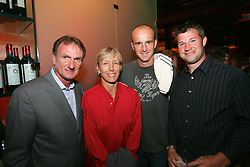 LIVERPOOL, ENGLAND - WEDNESDAY, JUNE 9th, 2005: Liverpool FC Legend with Martina Navratilova, Ivan Ljubicic and Barry Cowan at the Players Party at the St Thomas Hotel during the 4th Liverbird Developments Liverpool International Tennis Tournament. (Pic by Dave Rawcliffe/Propaganda)