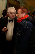 Norman Lamont, Nicky Haslam Catherine de Medici by Leonie Frieda book party, English Speaking Union. 3 February 2004. © Copyright Photograph by Dafydd Jones 66 Stockwell Park Rd. London SW9 0DA Tel 020 7733 0108 www.dafjones.com