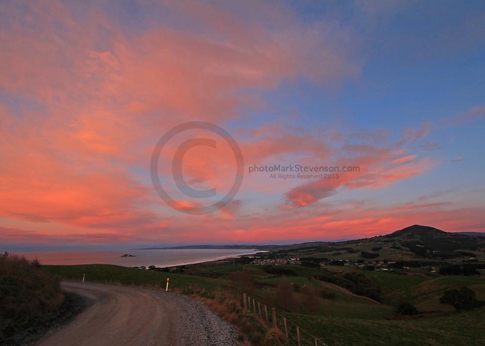Lunar sunrise 28th July 2018, Dunedin.