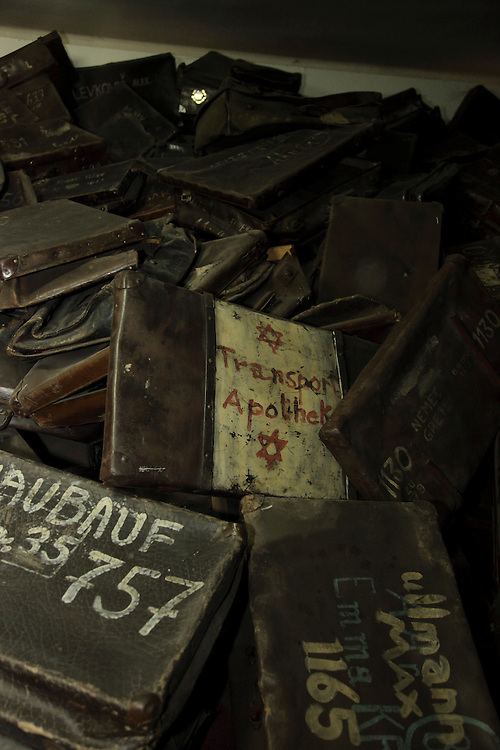 In Block 5 there are exposed 3,800 suitcases were found in the Auschwitz warehouses, among other personal belongings of the prisoners. Many were already destroyed as their owners.