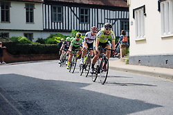 Ilona Hoeksma (Parkhotel Valkenburg) and Lisa Klein (Cervélo Bigla) weave through the Suffolk streets at Aviva Women's Tour 2016 - Stage 1. A 138.5 km road race from Southwold to Norwich, UK on June 15th 2016.