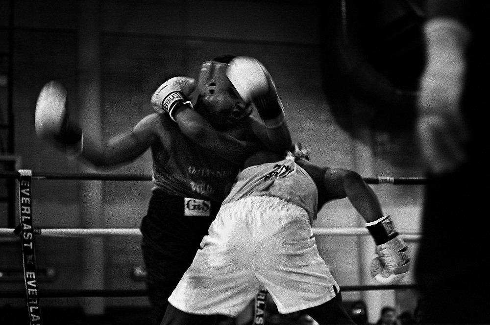 A preliminary fight of the 2005 Daily News Golden Gloves at the Manhattan PAL (Harlem) on February 10th.