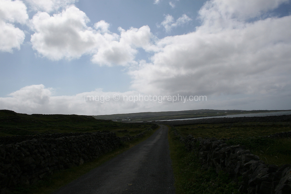 Dramatic sky on the Aran Islands County Galway