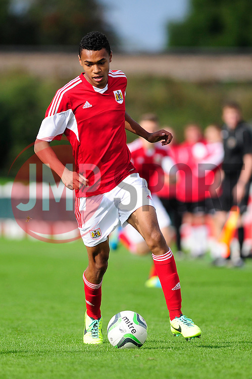 Marley Bishop of Bristol City U18 in action against Sheffield United U18s - Photo mandatory by-line: Dougie Allward/JMP - Tel: Mobile: 07966 386802 13/10/2013 - SPORT - FOOTBALL - WISE Campus - Bristol - Bristol City U18s v Sheffield United U18s - Youth League