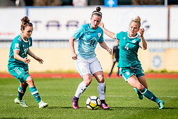 Spela Kolbl of Slovenia and Leonie Maier of Germany during football match between Slovenia and Germany in Womans Qualifications for World Championship 2019, on April 10, 2018 in Sports park Domzale, Domzale, Slovenia. Photo by Ziga Zupan / Sportida
