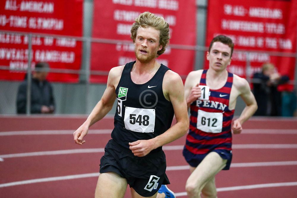 mens 3000 meters, NE Distance, Henry Sterling<br /> Boston University Scarlet and White<br /> Indoor Track & Field, Bruce LeHane