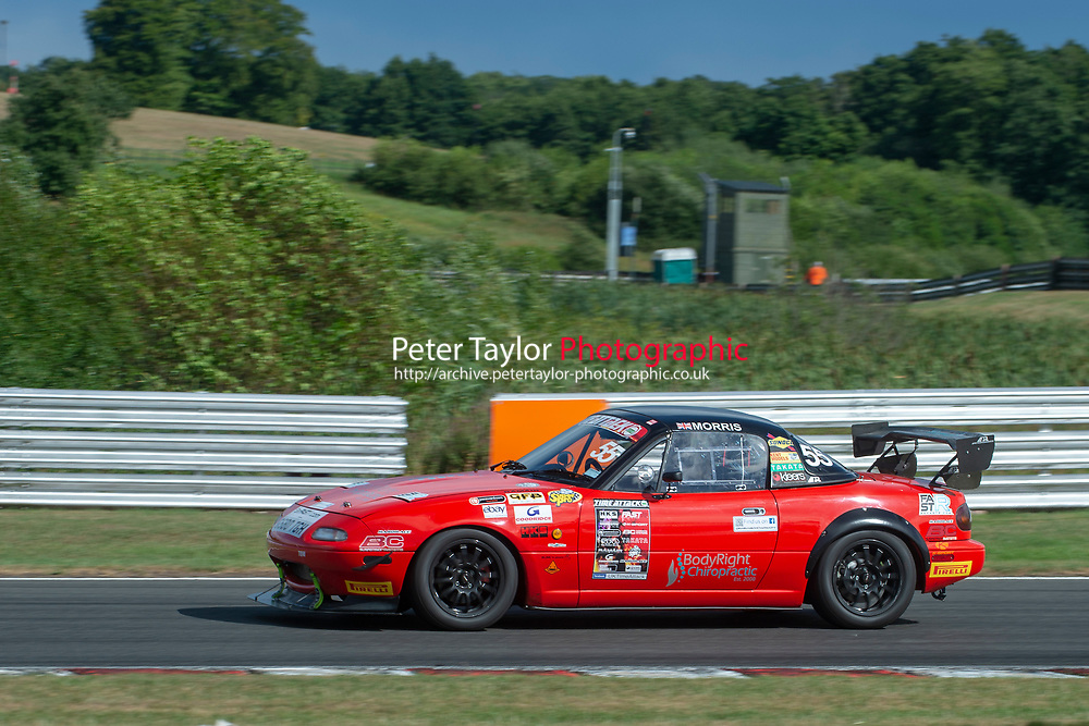 #55 Mark MORRIS Mazda MX5  during 2018 MSA Time Attack Championship - FastR Clubman / Pocket Rocket / Classic & Retro  as part of the Time Attack - Round 4 - Oulton Park  at Oulton Park, Little Budworth, Cheshire, United Kingdom. July 28 2018. World Copyright Peter Taylor/PSP. Copy of publication required for printed pictures.
