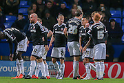 Brentford celebrate Brentford midfielder, on loan from Chelsea, John Swift  goal during the Sky Bet Championship match between Bolton Wanderers and Brentford at the Macron Stadium, Bolton, England on 30 November 2015. Photo by Simon Davies.