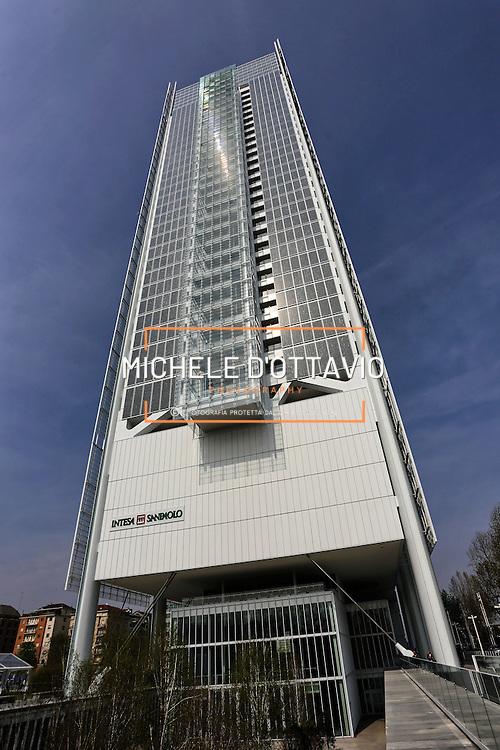 Grattacielo di Intesa Sanpaolo, 10 aprile 2015 Torino.