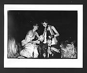 Sarah Gladders on William Vereker & Juliette Arthur on Andrew Marsden at the Bobbin Ball, Empire Rooms. London. 21 December 1983.