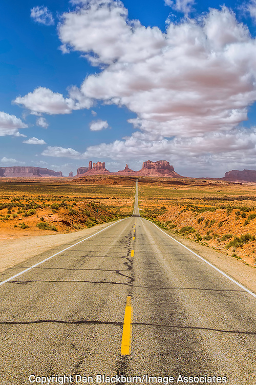Highway 163 Approaching Monument Valley at Location of Famous Scene in the Movie Forest Gump Monument Valley Arizona