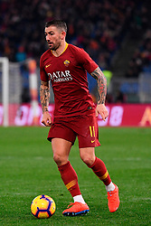 03.02.2019, Stadio Olimpico, Rom, ITA, Serie A, AS Roma vs AC Milan, 22. Runde, im Bild kolarov // kolarov during the Seria A 22th round match between AS Roma and AC Milan at the Stadio Olimpico in Rom, Italy on 2019/02/03. EXPA Pictures &copy; 2019, PhotoCredit: EXPA/ laPresse/ Alfredo Falcone<br /> <br /> *****ATTENTION - for AUT, SUI, CRO, SLO only*****