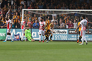 George Maris scores during the EFL Sky Bet League 2 match between Cambridge United and Cheltenham Town at the Cambs Glass Stadium, Cambridge, England on 21 April 2018. Picture by Antony Thompson.