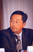 John Chen, CEO of Sybase attends a press conference by the Business Software Alliance June 16, 1999 in Washington, DC.