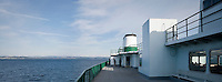 a ferry crosses Puget Sound, Washington, USA panorama