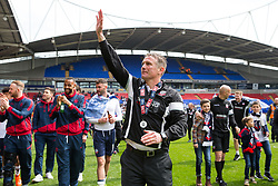 Free to use courtesy of Sky Bet - Bolton Wanderers manager Phil Parkinson  celebrates after finishing the season as Sky Bet League One runners up to secure automatic Promotion to the 2017/18 Sky Bet Championship - Rogan Thomson/JMP - 30/04/2017 - FOOTBALL - Macron Stadium - Bolton, England - Bolton Wanderers v Peterborough United - EFL Sky Bet League One.