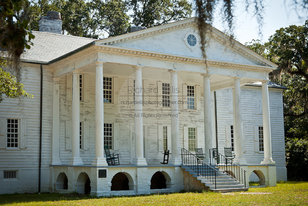 Hampton Plantation Georgian style mansion in McClellanville, SC. Several prominent families of Colonial and Antebellum South Carolina lived at Hampton Plantation, including Rutledges, Horrys and Pinckneys.