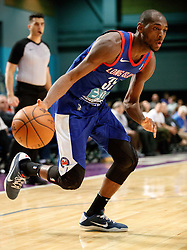 November 19, 2017 - Reno, Nevada, U.S - Long Island Nets Guard MILTON DOYLE (35) drives during the NBA G-League Basketball game between the Reno Bighorns and the Long Island Nets at the Reno Events Center in Reno, Nevada. (Credit Image: © Jeff Mulvihill via ZUMA Wire)